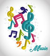 Music digital design Stock Illustration