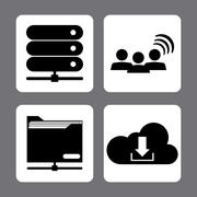 Technolog and devices design Stock Illustration