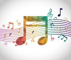 Music digital design Stock Illustration