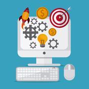 Entrepreneur  design , Vector illustration - stock illustration