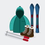 Winter Sport design , Vector illustration - stock illustration