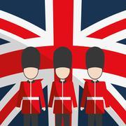 London landmarks design - stock illustration