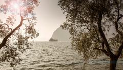 Lake Iseo, Lombardy, Italy Kuvituskuvat