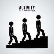 Pictogram doing activity design Stock Illustration