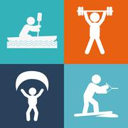 Pictogram doing activity design - stock illustration
