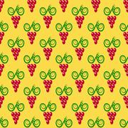 Grapes Seamless Pattern. - stock illustration