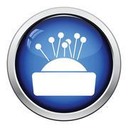 Pin cushion icon - stock illustration