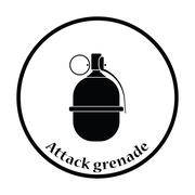 Attack grenade icon Stock Illustration