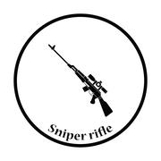 Sniper rifle icon Stock Illustration