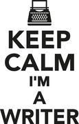 Keep calm I'm a writer Stock Illustration