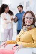 Successful businesswoman in her fifties - stock photo