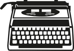 Typewriter old machine Stock Illustration