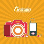 Electronics icons design Stock Illustration