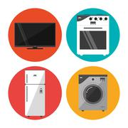 Electronics icons design - stock illustration