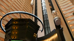 Elevators Marriott Marquis Times Square Marriott Marquis Hotel- Tilt up Stock Footage