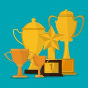 Trophy icon, vector illustration - stock illustration
