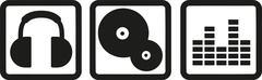 DJ equipment Stock Illustration