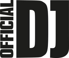 Official DJ - word - stock illustration