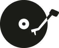 Vinyl record player icon Stock Illustration