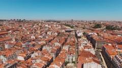 Baixa-Chiado largo de camoes Lisbon  Stock Footage