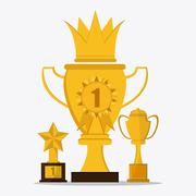 Trophy icon, first place - stock illustration
