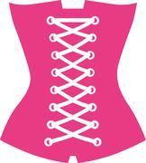 Pink corset Stock Illustration