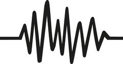 Chaotic Heartbeat line Stock Illustration