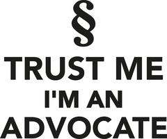 Trust me I'm a advocate Stock Illustration