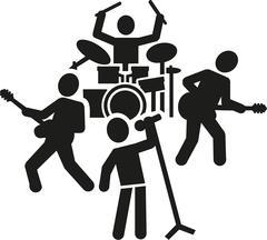 Rock band pictogram Stock Illustration