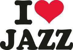 I love jazz Stock Illustration