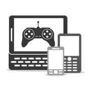 Device and icons design Stock Illustration