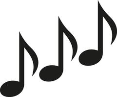 Music notes triple Piirros