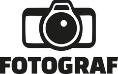 Photographer with camera - german - stock illustration
