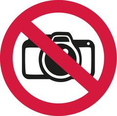 No photos allowed - stock illustration