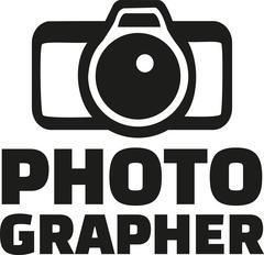 Photographer with camera - stock illustration