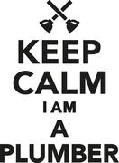 Keep calm I am a Plumber - stock illustration