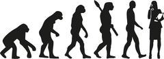 Secretary Evolution - stock illustration