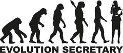 Evolution secretary Stock Illustration