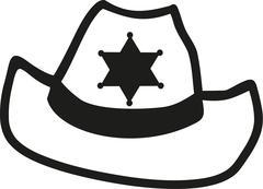 Sheriff hat - stock illustration
