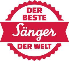 Best singer in the world german - stock illustration