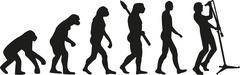 Singer evolution - stock illustration