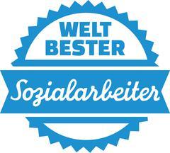 World's best Social Worker german - stock illustration