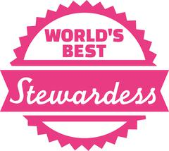 World's best stewardess Stock Illustration