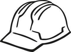 Hard hat - stock illustration