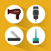 Hairdresser icons design - stock illustration