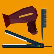 Hairdresser icons design Stock Illustration