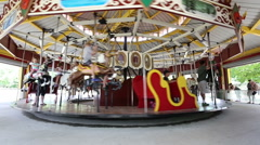 A vintage carousel Stock Footage