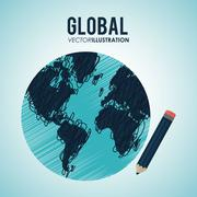 Global communication design - stock illustration