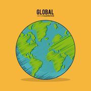 Global communication design Stock Illustration
