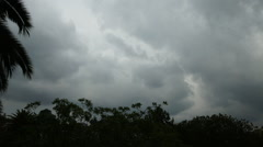 Timelapse-Storm front blows through Stock Footage